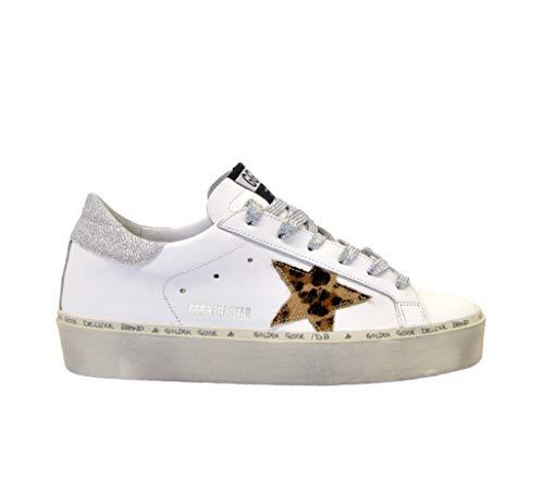 Golden Goose Sneakers Hi Star - Zapatillas Deportivas, Color Blanco