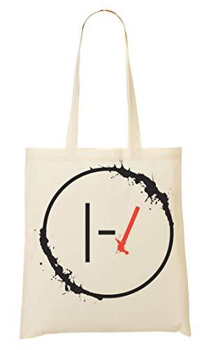 Wicked Design Twenty One Pilots Logo Splashed Tragetasche Einkaufstasche
