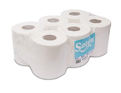 Saten handdoek, cellulose, 2-laags, gelamineerd, breedte 195, 17,5 g, 88 m, 6 stuks