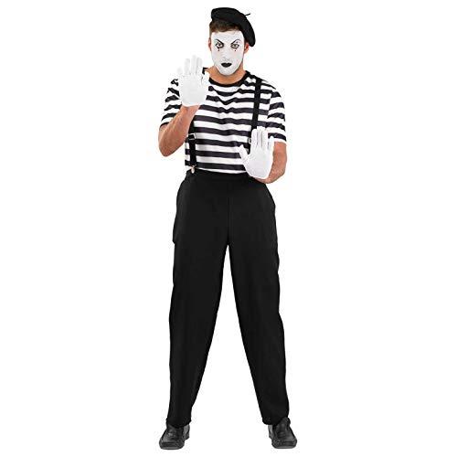 Fun Shack FN3677M kostuum, Heren Mime Artiest, Medium