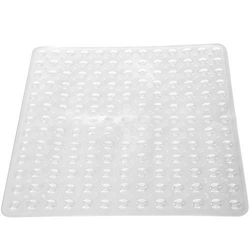 PCP - Alfombrilla antideslizante para ducha para tracción en tina y azulejos, transparente