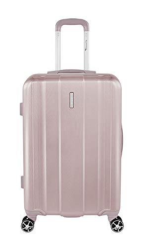 Tamaris Edition Hartschalen Koffer, 4 Rollen Reisekoffer für Damen/Herren mit TSA-Zahlenschloss, 67,5x44x22,5 – 60L (Rosé)