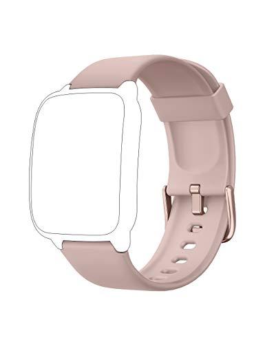 Willful Cinturino di Ricambio per Smartwatch Modello SW025 / SW023 / SW021 / SW020 / TE021 / TE020 / YM023 / YM021 /YM020 (Nero/Rosa/Blu/Grigio)