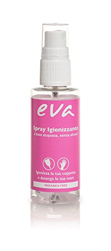 Eva – Kit S+L mit 2 Super-Soft Menstruationstassen + Desinfektionsspray – 2 Farben – MADE IN ITALY (Rose) - 6