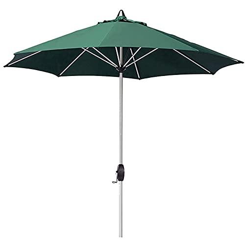 HPPOPE 2.7m Ombrellone da Esterno Ombrellone da Giardino Parasole in Alluminio, Protezione UV Ventilata Ombrello da Mercato, per Giardino Esterno Balcone Cortile, Verde