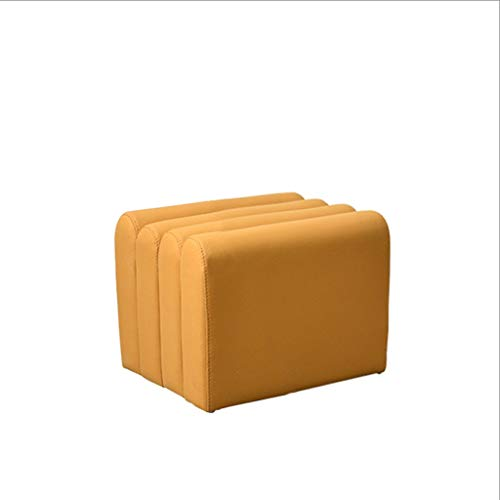 ZHONGTAI Otomano Cambio Zapatos SOPSOOL LUZ Nordic Light ORGANIO DE Lujo Sofa DE Sofa con Trabajo TÉCNICO A Prueba de Agua Sofá Sofá Sillón para Sala de Estar Escabel (Color : Yellow)
