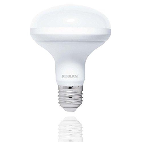 Roblan LEDR903000 LED R90 Bombilla E27, 15 W, Blanco