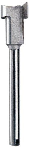 Dremel 655 HSS - Schlüssellochfräser Zubehörsatz (für Multifunktionswerkzeug mit 1 Dremel Fräser für Schlüssellochbohrungen in Holz, Plexoglas, Gummi, Laminat sowie weitere weiche Materialien)