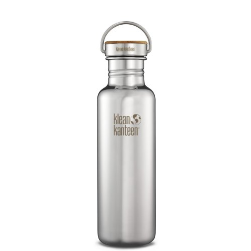 Klean Kanteen Reflect Stainless Steel Plastic Free Water Bottle, Single Wall with Stainless Steel/Bamboo Cap (Mirrored Stainless)
