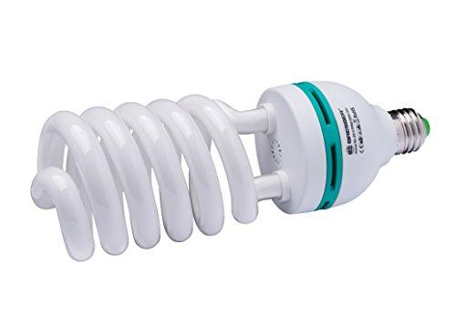 Bresser Fotostudio Spiral Tageslichtlampe (E27/55 Watt) Farbtemperatur 5300-5500 Kelvin