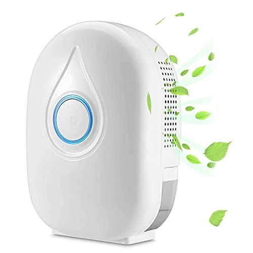 Mini deumidificatore elettrico, deumidificatore a semiconduttore Mini essiccatore portatile per la casa con telecomando Piccolo condizionatore d'aria per casa, armadio, guardaroba, cucina, cantina