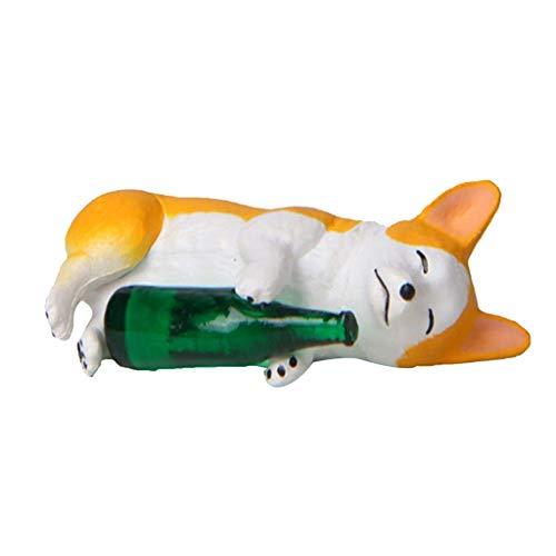 LOVIVER Figuras De Perro En Miniatura, Husky con Artesanías De Botellas para...