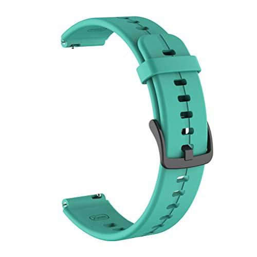 MIXCUT Pulseiras de relógio – pulseiras de relógio de substituição de silicone, pulseira esportiva inteligente compatível com Talkband B6-16 mm (verde menta)