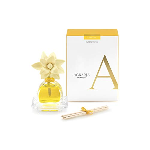 AGRARIA Golden Cassis Scented PetiteEssence Diffuser, 1.7 Ounces with Reeds and a Flower