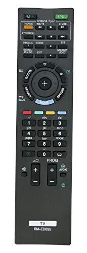 ALLIMITY RM-ED035 Mando a Distancia reemplazado por Sony Bravia LCD TV KDL-37EX500 KDL-37EX500E KDL-40BX400 KDL-40EX402 KDL-40EX500 KDL-40EX710 KDL-46EX401 KDL-46EX402 KDL-46EX711 KDL-40HX800