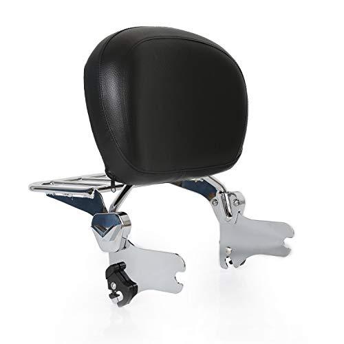 Detachable Sissy Bar Backrest With Chrome Luggage Rack Set for Harley Davidson Touring Models FLHR FLHT FLTR 1997-2008
