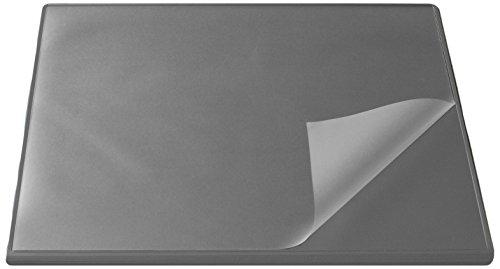 Läufer 44623 Durella Flexoplan Schreibtischunterlage mit Kantenschutz und transparenter Auflage, 52 x 65 cm, rutschfest, grau