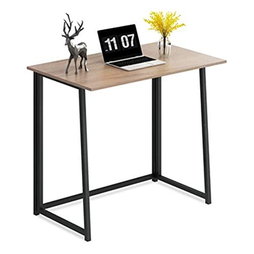 Escritorio Aprender Plegable para computadora, Mesa Plegable Negra Escritorio de Estudio Moderno y Simple Estilo, Mesa para la Habitación o Estudio, Medidas 80 x 45 x 75 cm (marrón)