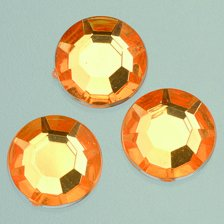EFCO Facet Gem Rose decoratieve steen, acryl, pale oranje, 12 mm, 75