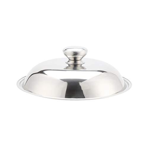 Coperchio per padelle in Vetro Acciaio Steel Pan sostitutivo di Vetro Trasparente casseruola Padelle Wok Sostituire Pot Coperchi for la Cucina (Size : 38CM)