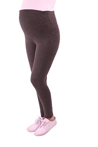 Bequeme Umstandsleggings für den Alltag und Sport Schwanger Damen Schwangerschafts-Leggings Umstandsmode (Dunkelgrau, Medium)