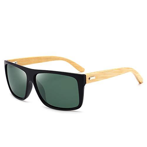 ShFhhwrl Clásico Gafas De Sol Gafas De Sol De Madera De Leopardo para Hombre, Gafas Polarizadas Clásicas De Lujo, Street Beat Vin