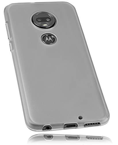 mumbi Hülle kompatibel mit Motorola Moto G7 Plus Handy Hülle Handyhülle, transparent schwarz