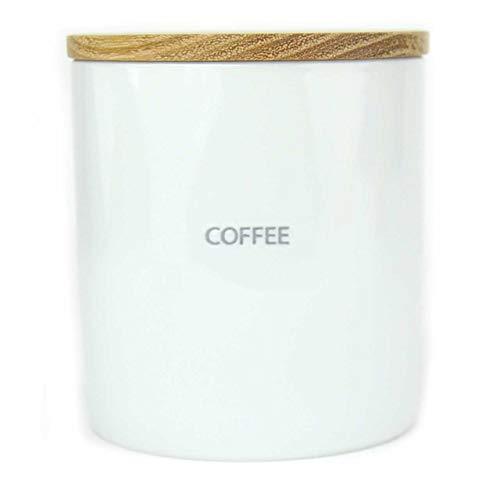 [ラトルウッド]RattleWood LOLO(ロロ)キャニスター salt sugar tea coffee 陶器 保存容器 北欧 B STYLE KITCHEN 木製(coffee)