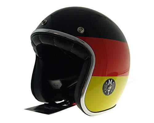 Jethelm, Halbschalenhelm, Motorradhelm LE MANS Deutschland Flagge Gr. XL