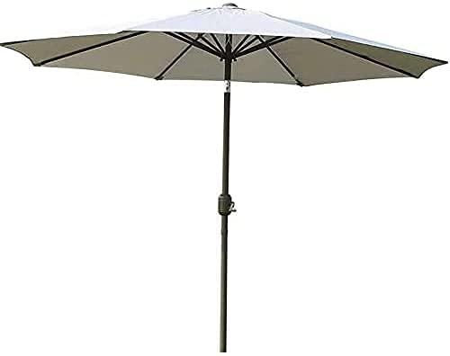 NFRMJMR Parasol Umbrella Garden Parasol 2,7 M Patio Paraguas, Mango de manivela Ajustable, Polo Principal en Negrita para jardín, terraza, Piscinas, Mercado Exterior Paraguas Playa Paraguas 210603