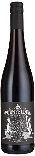 Pornfelder Rotwein - Sex, Wine and Rock n Roll - 0,75L Portugieser Dornfelder Cuvee - vom Mann mit Hut