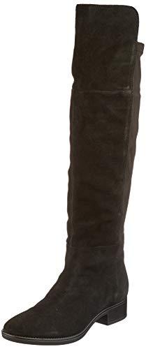 Geox Damen D FELICITY I Over-the-Knee Boot, Black, 37 EU