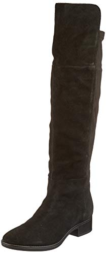 Geox Damen D FELICITY I Over-the-Knee Boot, Black, 38 EU