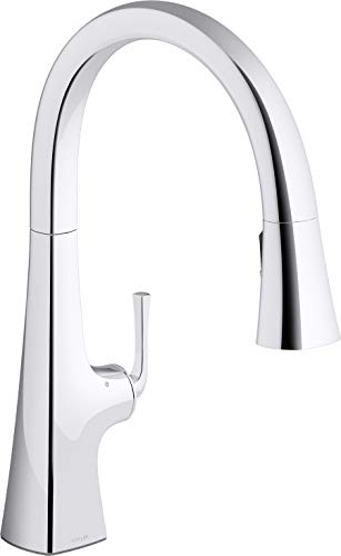 Kohler K-22068-WB-CP Graze Kitchen Sink Faucet, Polished Chrome