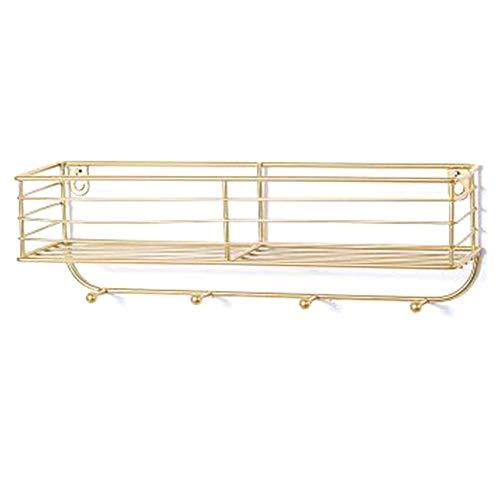 Moligh doll Minimalist Ins Wind Multifunktionales Eisen Wandregal Home Decoration Badezimmer Wandregal Ya Golden
