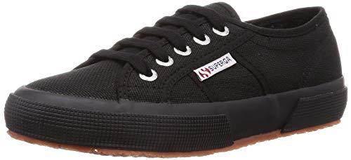 Superga Unisex 2750 Cotu Classic Sneaker, White Black, 37 EU