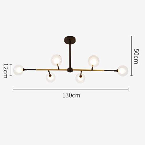 Nuokix Leuchter-Beleuchtung Deckenleuchte Pendelleuchten Moderne 6- Licht Kronleuchter Multi-Adjustable Leuchter-Beleuchtung Golden Sputnik Kitchen Island Lighting Molecular Pendelleuchte, warmes Lich