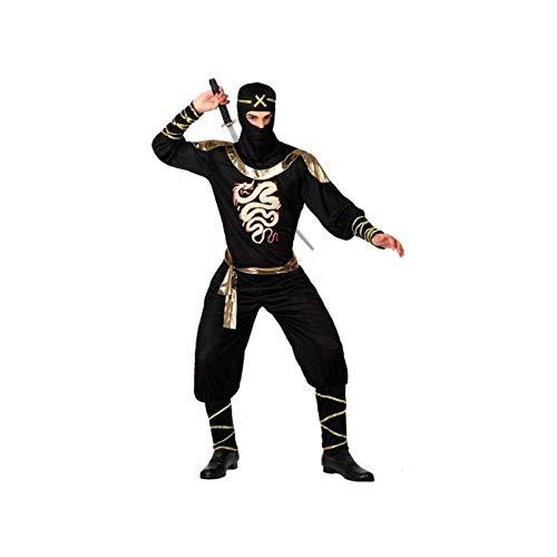 Atosa-15291 Disfraz Ninja, color negro, XL (15291)