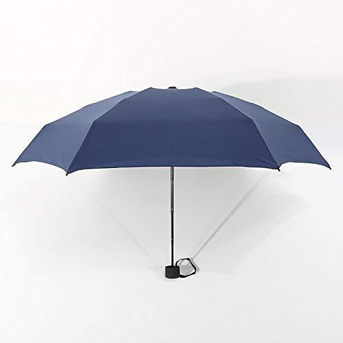 Parasol Parapluie Petit Mode Ultra Léger 5 Parapluie Pliant Pluie Femmes Hommes Mini Poche Revêtement Non-Noir Fille Imperméable Portable Parapluies Darkblue