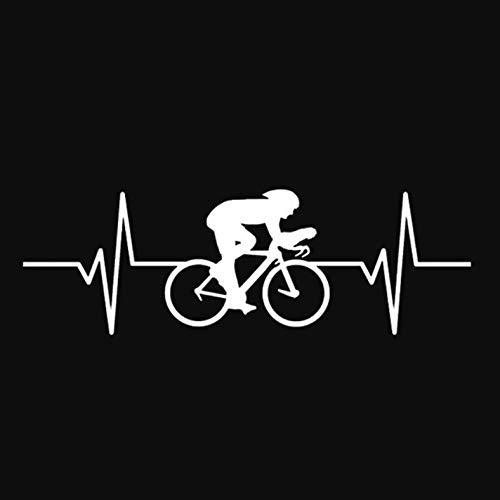 HKSOKLLJJ 3 Pezzi Adesivi per Auto e Decalcomanie 14,8 * 4,8 cm Interessante Ciclista Adesivi Riflettenti Impermeabili Moto Portatile Auto Bicicletta Fai da Te Adesivi Patch per Feste