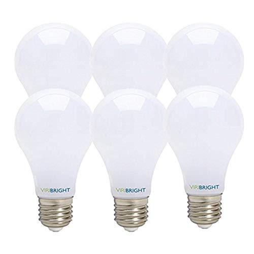 Ultra Very High Performance, Viribright, New Technology! 60 Watt Replacement, Dimmable, A19, LED light Bulb, 6 pack, Cool White, E26 Edison Base, 90+ CRI, Maximum Energy Savings