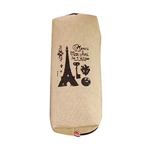 probeninmappx Burlap Bleistift-Kasten Kind-Schule-Eiffelturm-Feder-Kasten-Schule-Briefpapier Geldbörse Aufbewahrungstasche