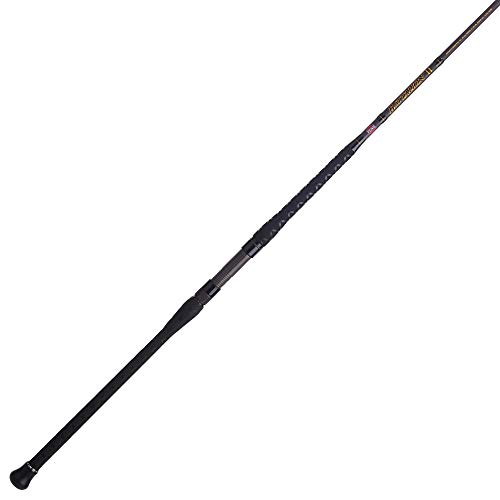 PENN Fishing Squadron III Surf Spinning Fishing Rod, Titanium/Red/Gold, 8' - Medium - 2pc (SQDSFIII1220S80)