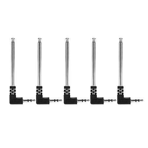Universele FM-radio telescopische antenne met hoge versterking en sterk signaal, draagbare DC3.5 aansluitantenne (5 stuks)