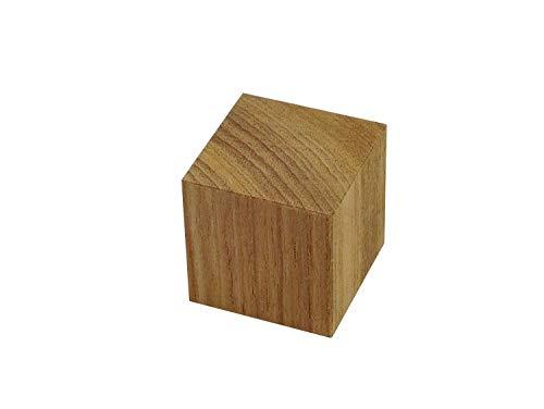 【無垢材】チーク角材 サイコロ型・立方体・木工・工作・インシュレーター (30×30×30mm 1個)