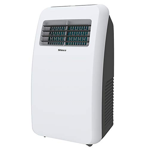 Shinco8,000 BTU Portable Air Conditioners with Built-in Dehumidifier Function, Fan Mode, Quiet AC Unit Cools Rooms to 200 sq.ft, LED Display, Remote Control, Complete Window Mount Exhaust Kit