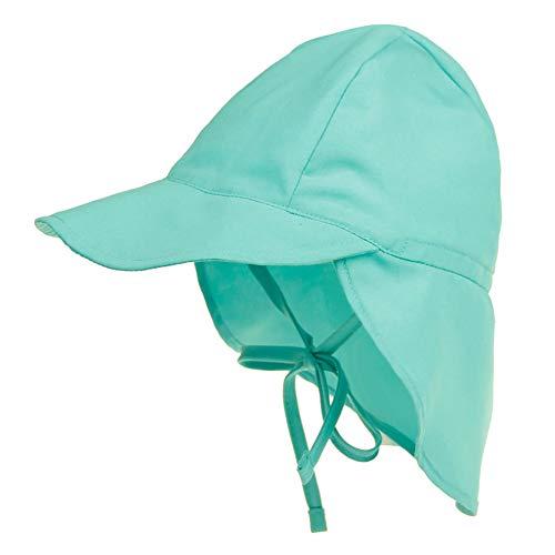 Happy Cherry - Schirmmütze mit Nackenschutz Mütze für Kinder Junge Mädchen Unisex Bindebändern Sonnenschutz UV Schutz Baby Cap Atmungsaktiv Schnelltrocknend - Grün - 3-18 Monate