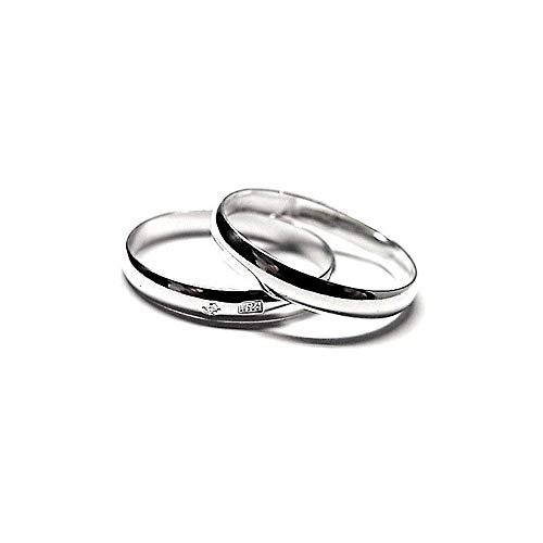 Alianza plata Ley 925m lisa grosor 3mm. brillo [AC0239]