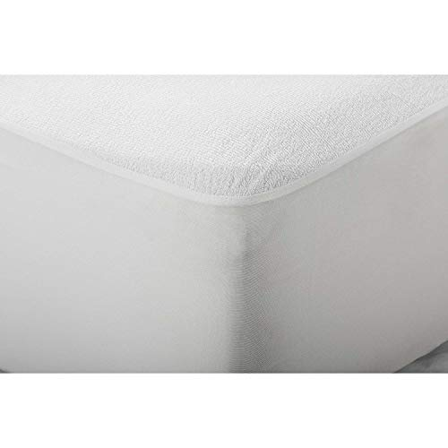 NORA HOME Protector de colchón Impermeable, 100% algodón, Transpirable, hipoalergénico y antiácaros (60 x 120 cm (Cuna))