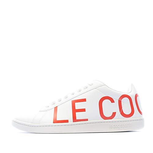 Le Coq Sportif Courtset Sneaker Herren Weiss/Orange - 45 - Sneaker Low